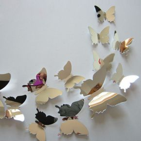 mirror sticker butterfly